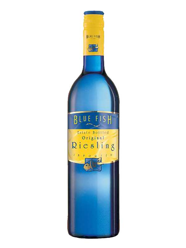 Blue fish blue fish riesling pfalz 2014 750ml for Fish wine bottle