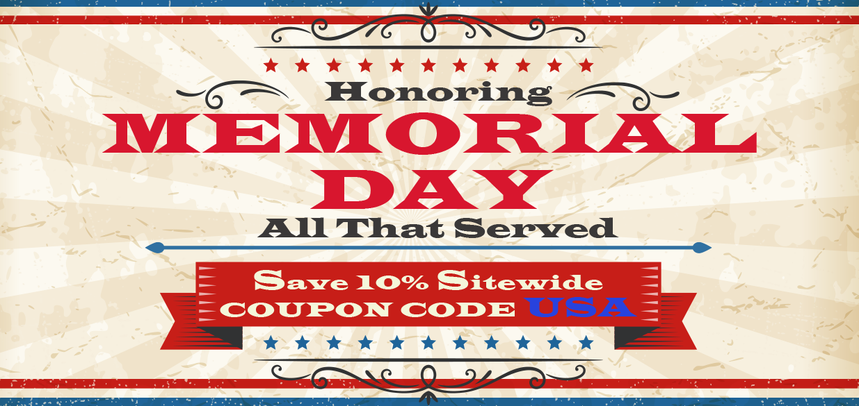 Save 10% this Memorial Day