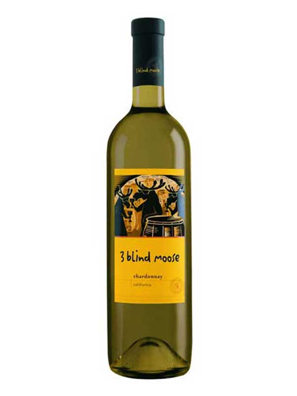 3 Blind Moose Chardonnay 750ML Bottle