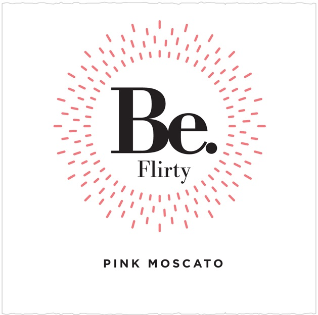 Be. Flirty Pink Moscato 750ML Label