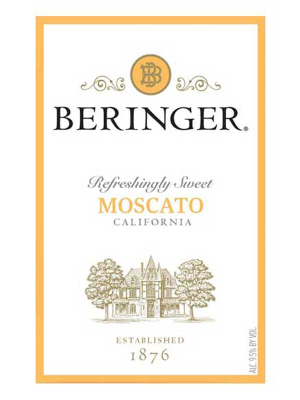 Beringer Moscato NV 750ML Label