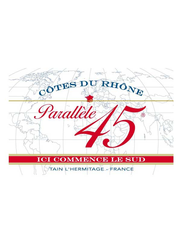 Jaboulet Cotes du Rhone Parallel 45 2011 750ML Label