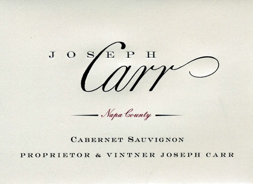 Joseph Carr Cabernet Sauvignon Napa Valley 2012 750ML Label