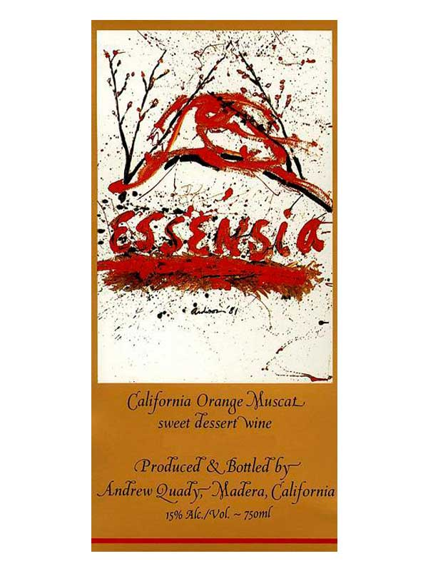 Quady Essensia Orange Muscat 2013 750ML Label