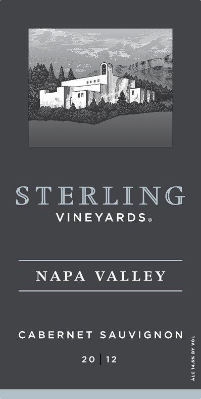 Sterling Vineyards Cabernet Sauvignon Napa Valley 2012 750ML Label