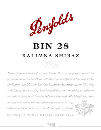 Penfolds Shiraz Kalimna Bin 28 South Australia 2006 750ML - 9834589206