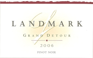 Landmark Pinot Noir Grand Detour Sonoma Coast 2008 750ML - 96650586