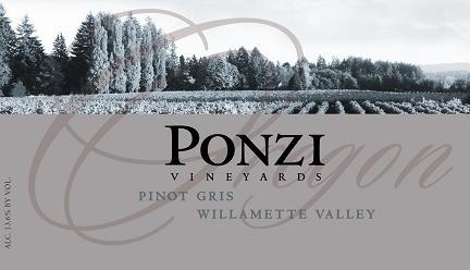 Ponzi Vineyards Pinot Gris Willamette Valley 2010 750ML - 9518862101