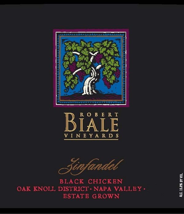 Robert Biale Black Chicken Zinfandel Napa Valley 2010 750ML - 92CBL214