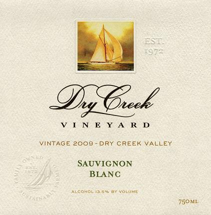 Dry Creek Vineyard Sauvignon Blanc Dry Creek Valley 2009 750ML - 97297941