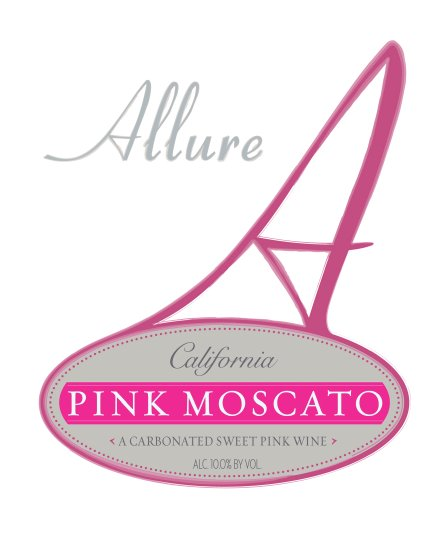 Allure Sparkling Pink Moscato California NV 750ML - 989135729