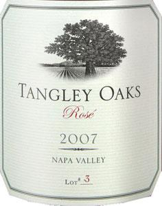 Tangley Oaks Rose Napa Valley 2007 750ML - 98074781