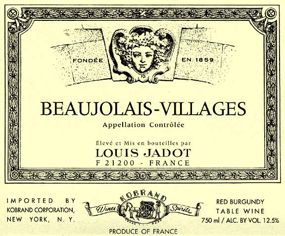 Louis Jadot Beaujolais Villages 2010 750ML - 989027275