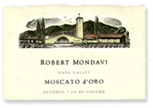 Robert Mondavi Moscato d'Oro Napa Valley 2009 375ML Half Bottle - 99299044