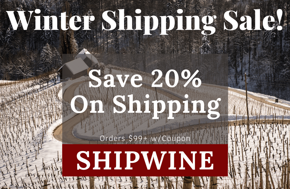 save 20% on shipping on orders $99+ with coupon code SHIPWINE
