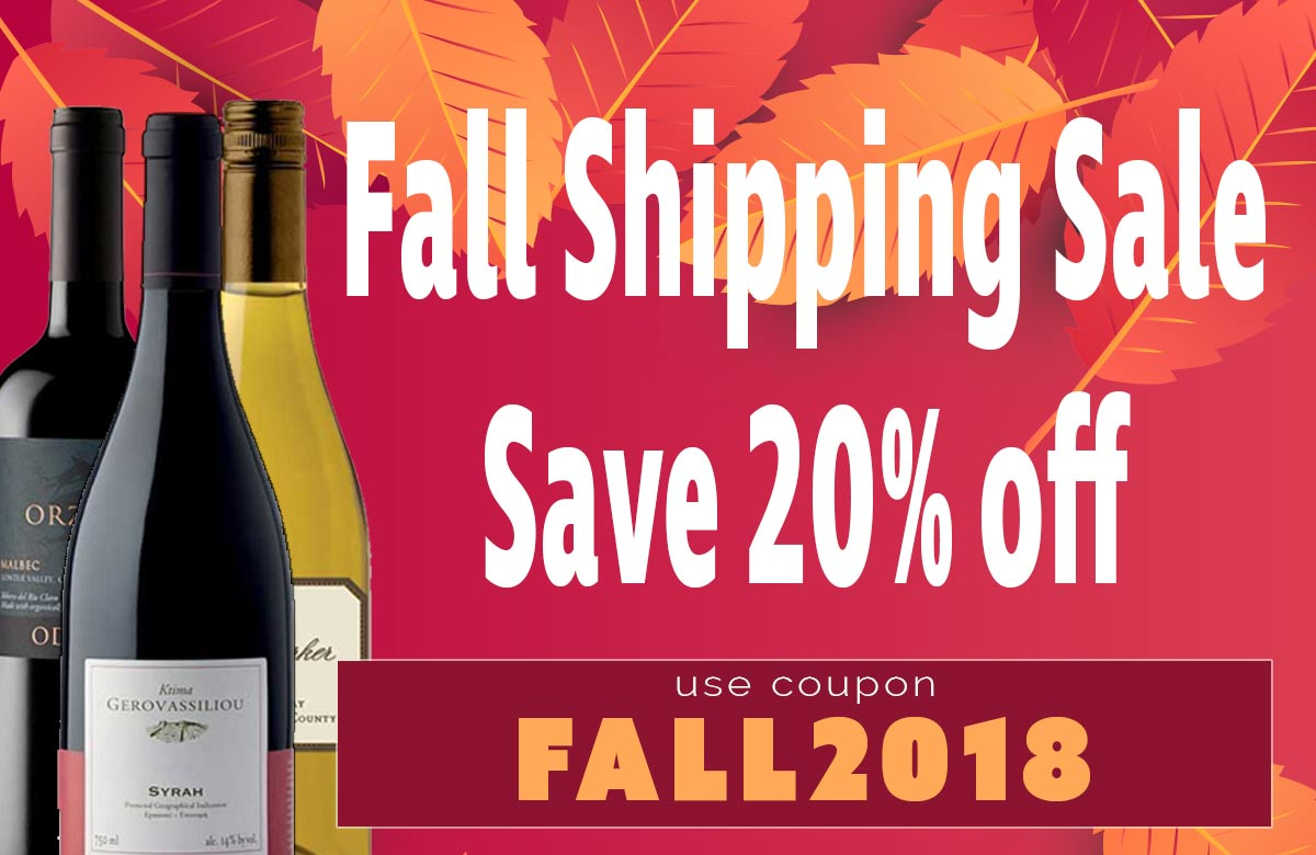 Fall Shipping Sale! Save 20% off Shipping