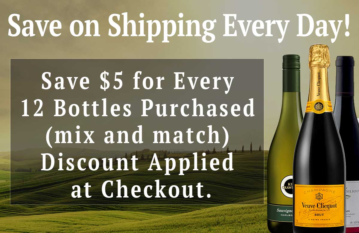 Save on Shipping Every Day - Save $5 for Every 12 bottles Purchased, Mix and Match