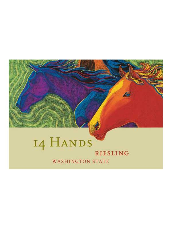 14 Hands Riesling 2013 750ML Label