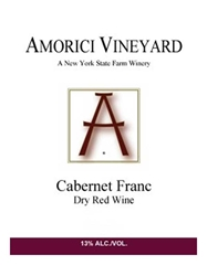Amorici Vineyard Cabernet Franc Hudson Valley 750ML Label