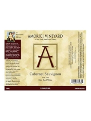 Amorici Vineyard Cabernet Sauvignon Hudson Valley 750ML Label