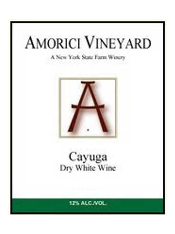 Amorici Vineyard Cayuga White Hudson Valley 750ML Label