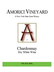 Amorici Vineyard Chardonnay Hudson Valley 750ML Label