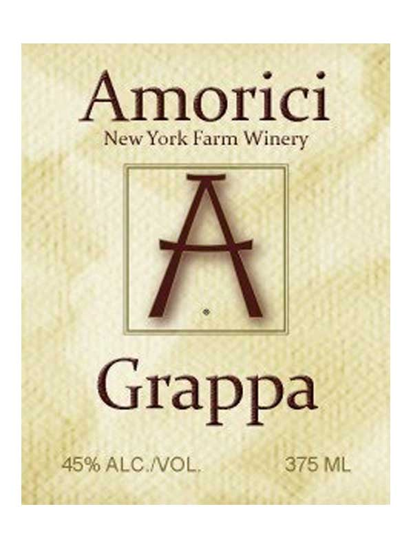 Amorici Vineyard Grappa Hudson Valley 375ML Label