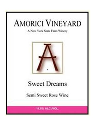 Amorici Vineyard Sweet Dreams Rose Hudson Valley 750ML Label