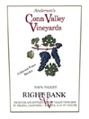 Anderson's Conn Valley Right Bank Proprietary Red Napa Valley 2008 750ML Label