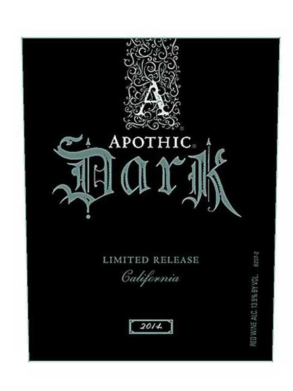 Apothic Dark Red Blend Limited Release 2014 750ML Label