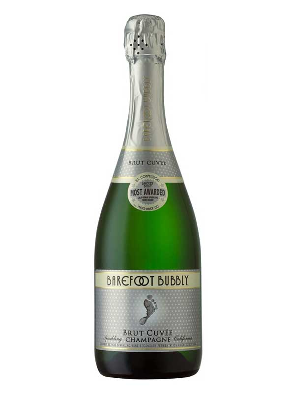 Barefoot Bubbly Brut Cuvee Champagne NV 750ML Bottle