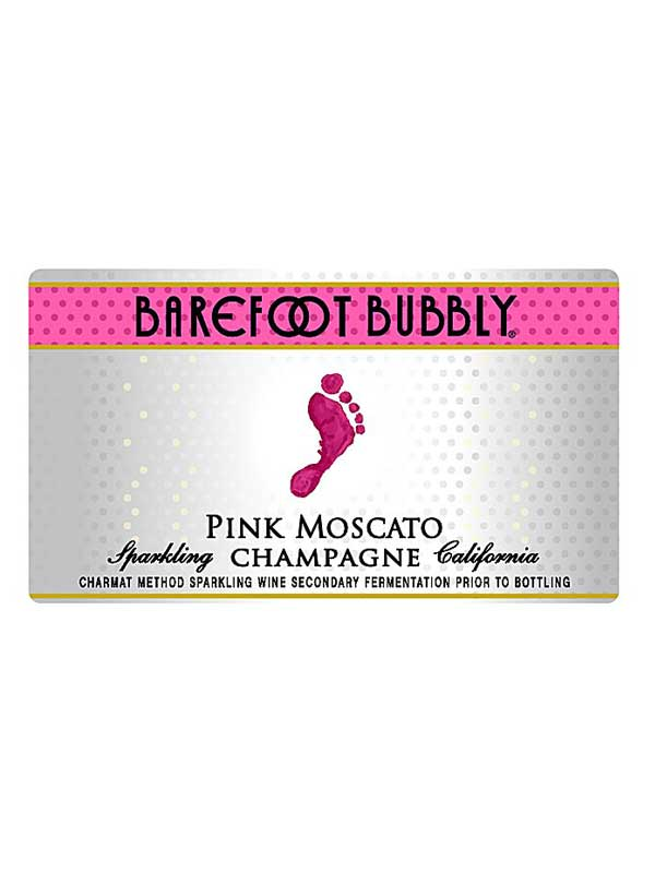 barefoot cellars barefoot bubbly pink moscato champagne