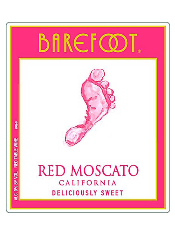Barefoot Cellars Barefoot Cellars Red Moscato Nv 750ml