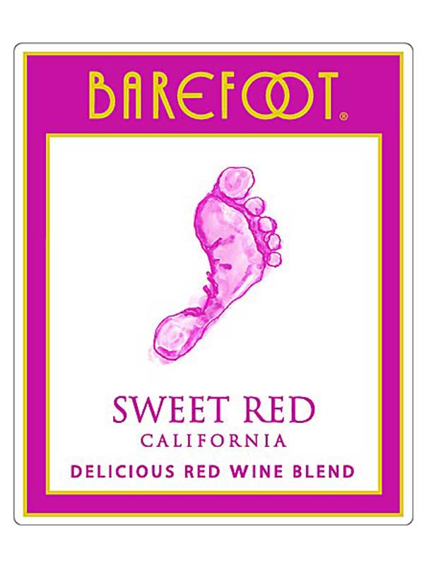 Barefoot Cellars Sweet Red NV 750ML Label