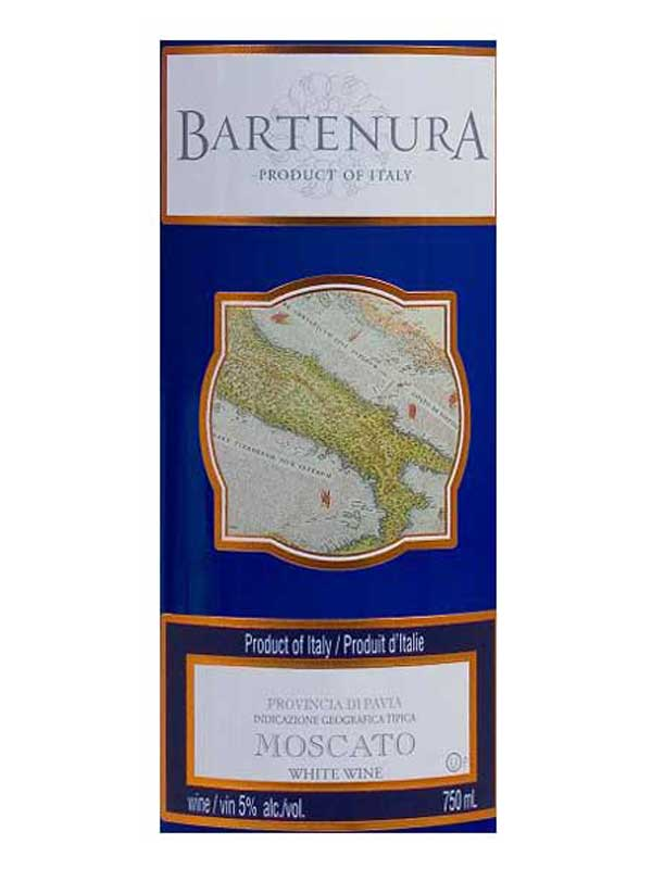 Bartenura Moscato Pavia 2015 750ML Label