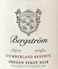 Bergstrom Pinot Noir Cumberland Reserve Willamette Valley 750ML Label