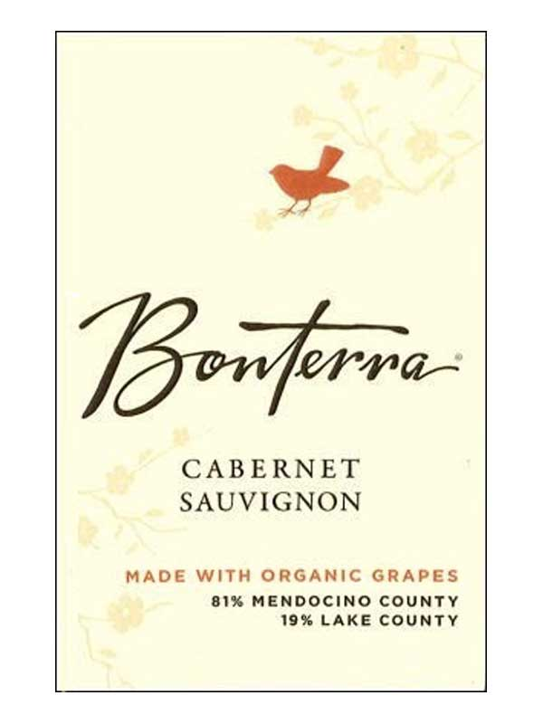 Bonterra Vineyards Cabernet Sauvignon Mendocino County 2011 750ML Label
