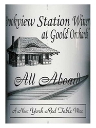 Brookview Station Winery All Aboard Red NV 750ML Label