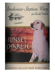 Brookview Station Winery Sunset Charlie Rose 750ML Label