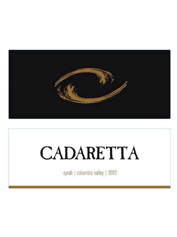 Cadaretta Syrah Columbia Valley 2012 750ML Label