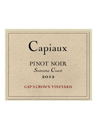 Capiaux Cellars Gaps Crown Vineyard Pinot Noir Sonoma 2012 750ML Label