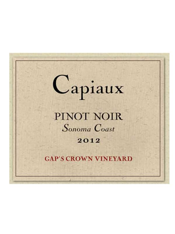 Capiaux Cellars Gap's Crown Vineyard Pinot Noir Sonoma 2012 750ML Label