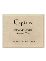 Capiaux Cellars Gaps Crown Vineyard Pinot Noir Sonoma 750ML Label