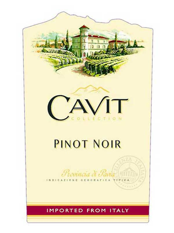 Cavit Pinot Noir Pavia 2015 750ML Label