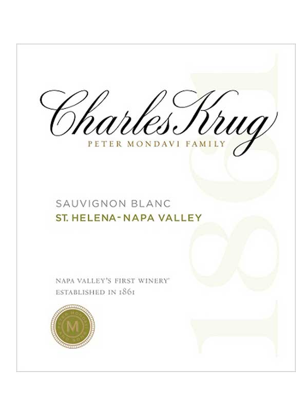 Charles Krug Sauvignon Blanc St. Helena Napa Valley 750ML Label