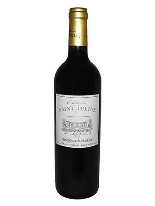 Chateau Saint Julian Bordeaux Superieur 2012 750ML Bottle