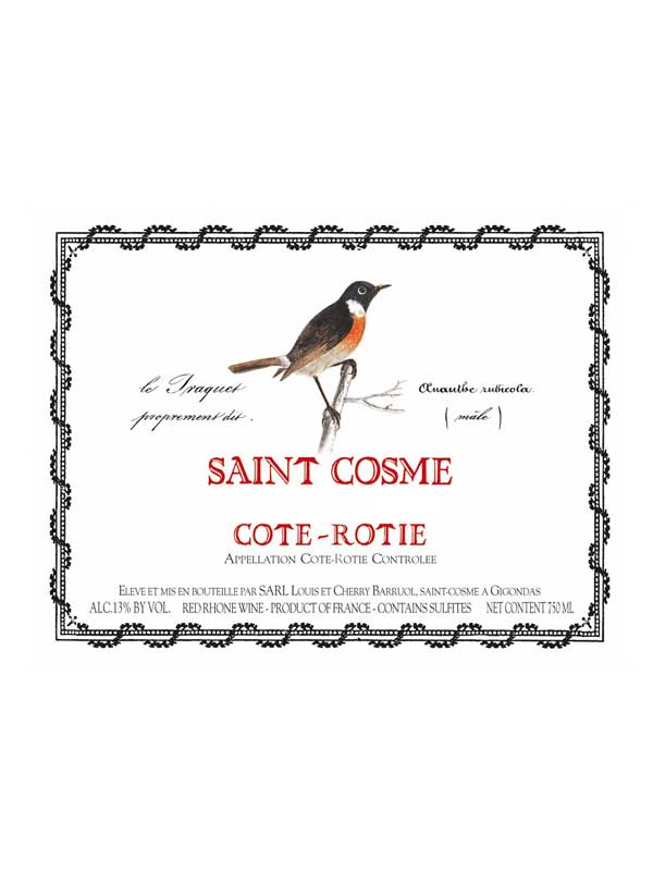 Chateau de Saint Cosme Cote Rotie 2009 750ML Label