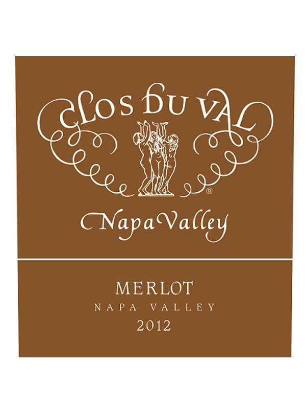 Clos Du Val Merlot Napa Valley 2012 750ML Label