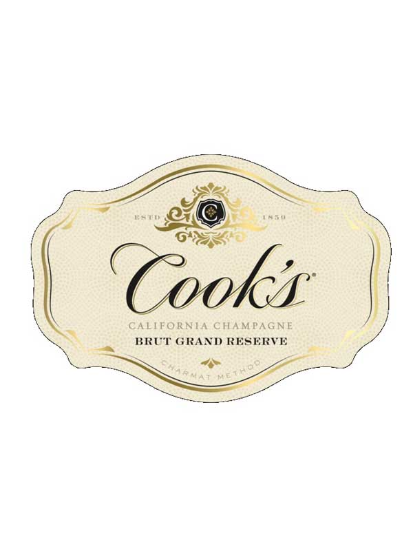 ... Cooku0027s Brut Grand Reserve California Champagne NV 750ML Label