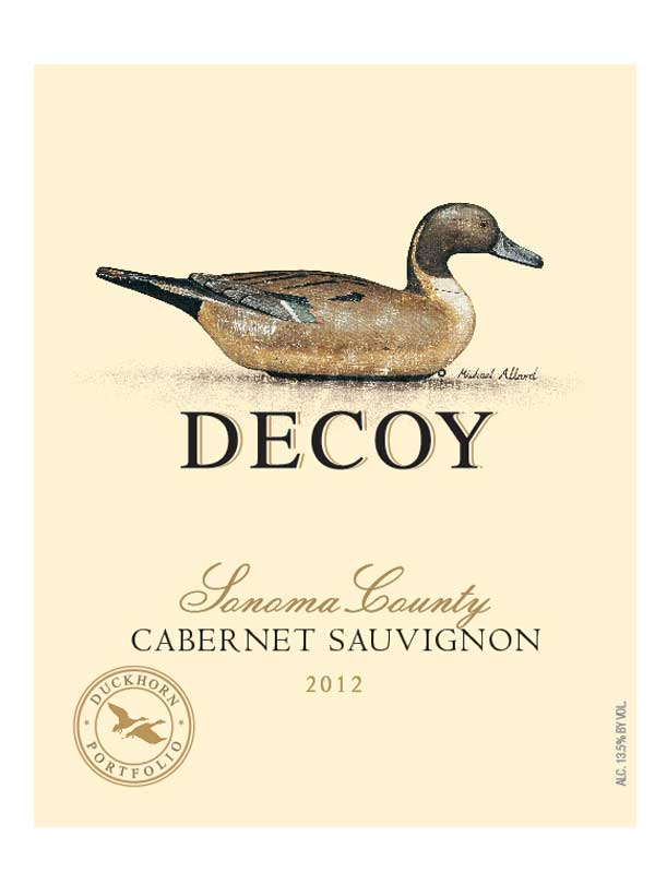 Decoy Cabernet Sauvignon Sonoma County 2012 750ML Label